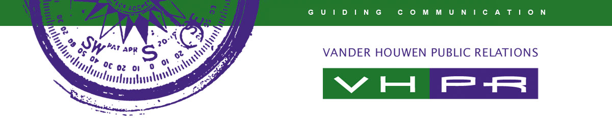 VHPR •Vander Houwen Public Relations •Seattle Logo